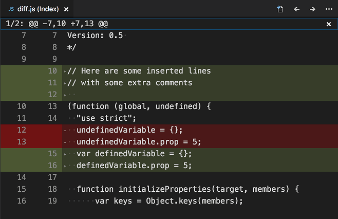 VSCode Diff-Review-Pane